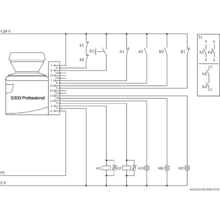 s30b 3011da opto electronic protective devices sick led light bar wiring diagram connection diagram s300 professional protective field switching with two static inputs