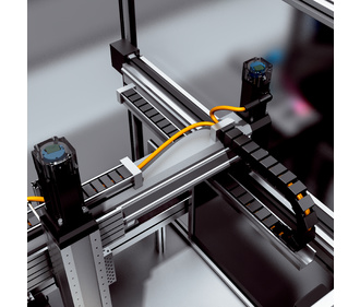 Gripper positioning of the 3-axis gantry robot SICK