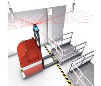 Automated Guided Vehicle Laser Navigation With Reflectors