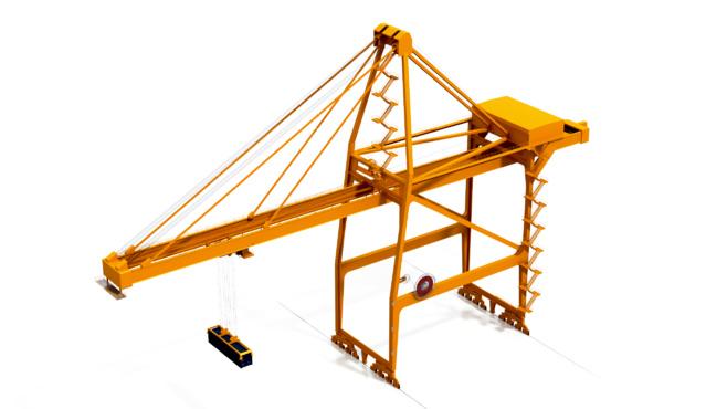 Quay crane and quay area