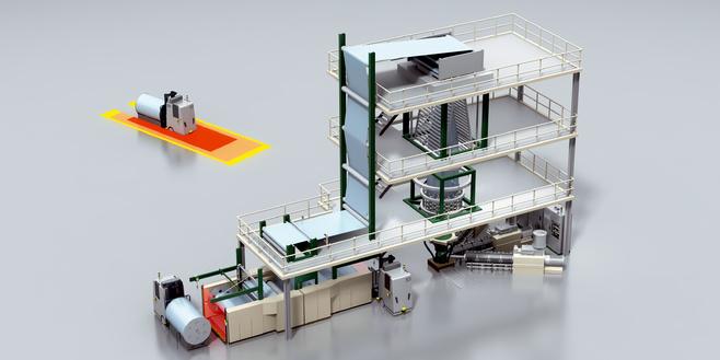 Экструдер для производства рукавных пленок методом раздува