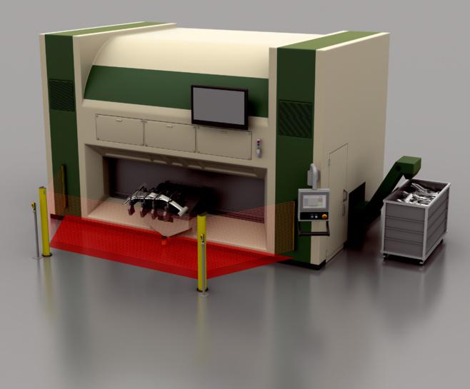 3D laser cutting system
