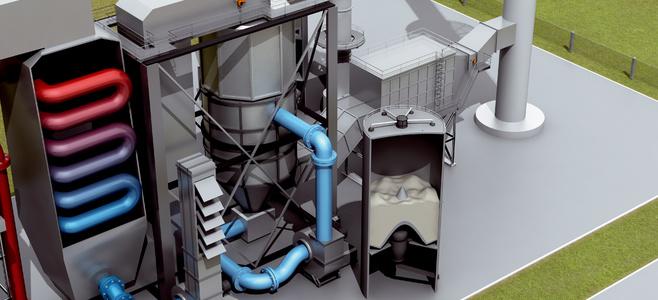 Установка для удаления серы из дымовых газов сухим способом (REA)