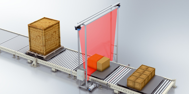 Handling of pallets and bulky goods