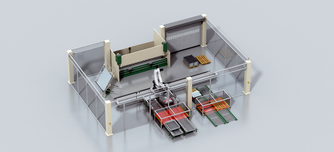Automated bending cell