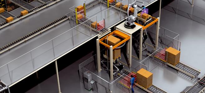 Pallet handling machine