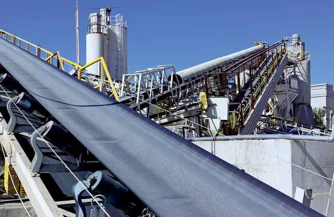 Conveyor belts in the chemical industry