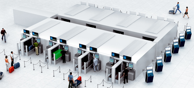 Automated baggage drop-off