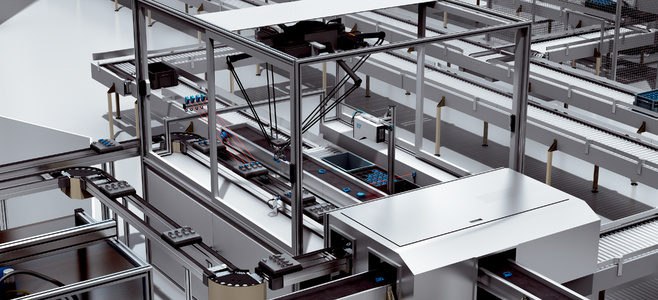 Pick-and-place robots for housing handling