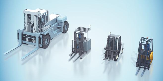 Manned forklift trucks