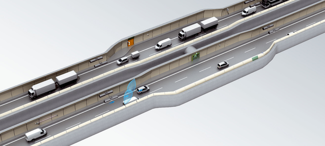 Solutions for traffic safety in tunnels