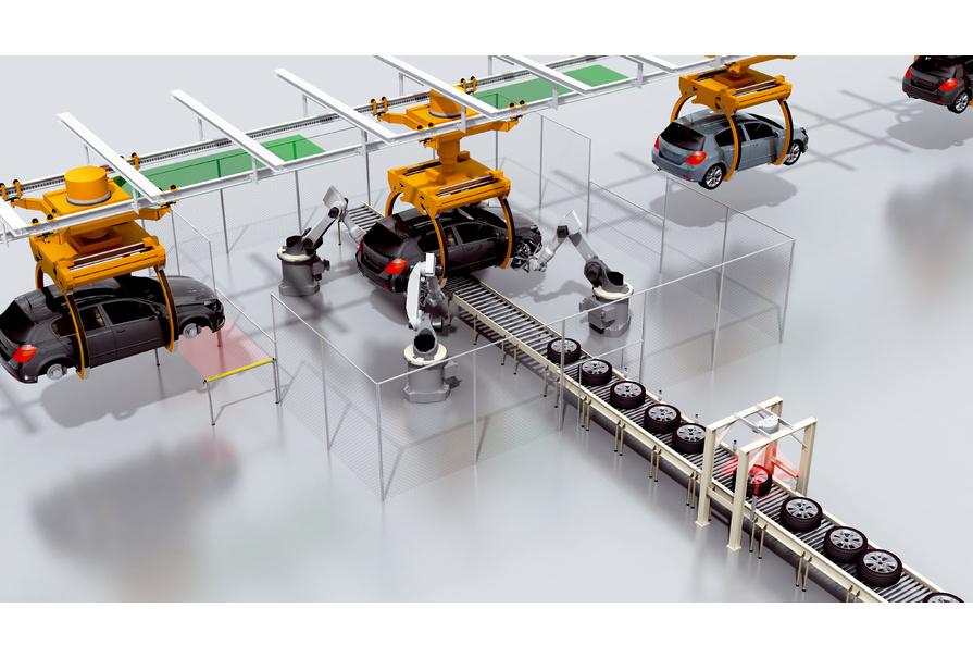 exemple d'application sur le guidage de robots par capteurs avec l'inspector SICK