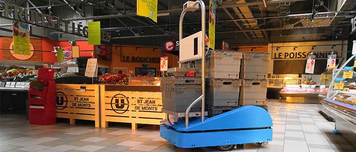 Le robot mobile SUitee Cobotics équipé des scrutateurs SICK