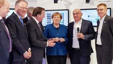 Angela Merkel à la Foire de Hanovre 2019