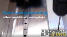 Mounting of the IQB2S inductive safety switch without an additional mounting device
