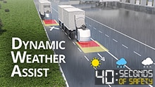 The AGV Dynamic Weather Assist safety system from SICK for increased availability of outdoor AGVs