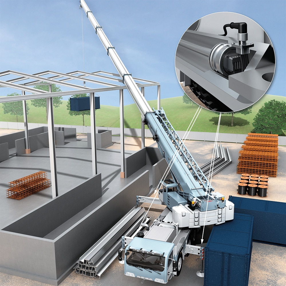 The MAX linear encoders make it possible to automate and monitor work processes performed by mobile machines.