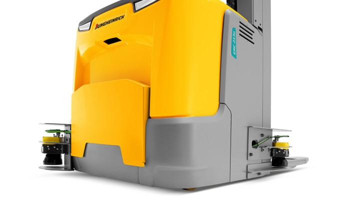 State-of-the-art technology: The ERC213a model is equipped with microScan3 safety laser scanners
