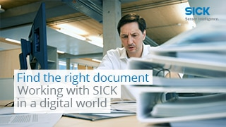 Find the right document – Working with SICK in a digital world