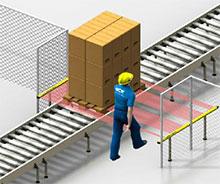 Protection horizontale ou reconnaissance d'objets