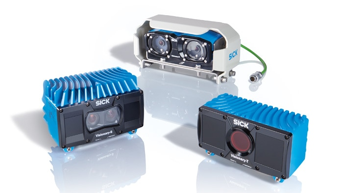 SICK's Visionary-B, Visionary-T and Visionary-S offer a complete portfolio of 3D snapshot sensors that provide users and integrators with universal solutions for 3D environmental monitoring on mobile agricultural machines - all from a single source.