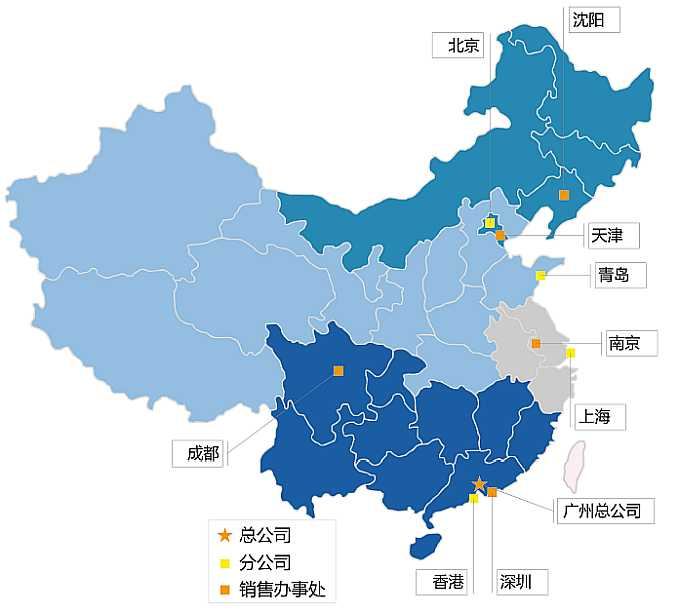 Map of SICK in china