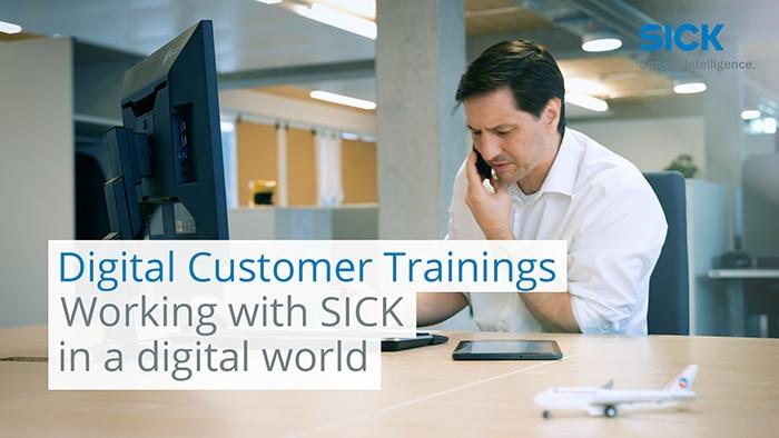 Digital Customer Trainings – Working with SICK in a digital world