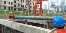 Ultrasonic sensors stabilize construction and foundation pits
