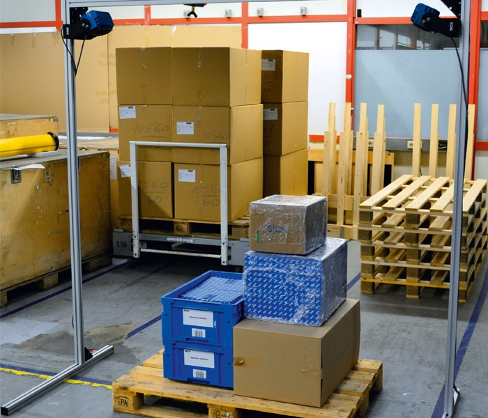 Optimize palletizing by using SICK Visionary-T sensors