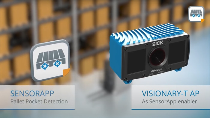 Pallet pocket detection with 3D snapshot technology