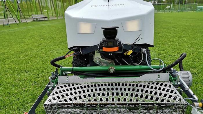 Ronovatec hat mit Sensoren von SICK einen ökologisch nachhaltig und ökonomisch unschlagbar rentablen Mähroboter für große Flächen entwickelt.