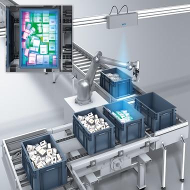 Image of robot tote picking