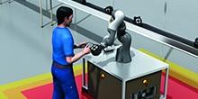 Mehr zur funktionalen Sicherheit bei der  Mensch-Roboter-Kollaboration (MRK)