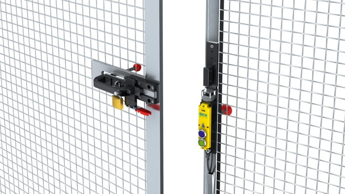 A protection system consisting of SICK deTec Safety Light Curtains around the hazardous area prevents any intrusion by a person or unexpected object.