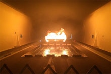 FLOWSIC200 functional test in tunnel fire test