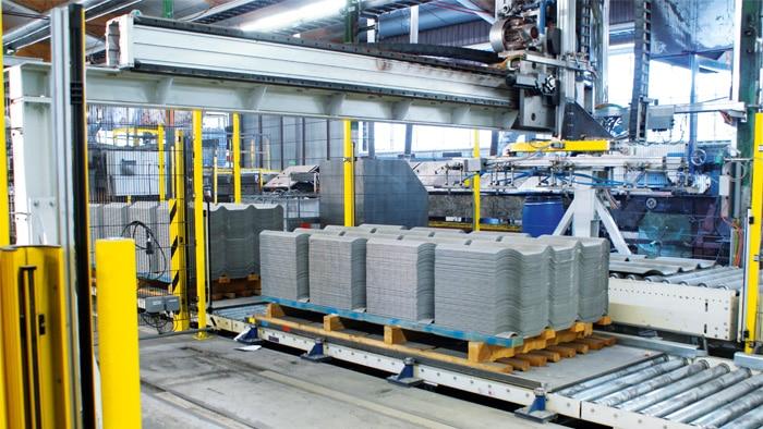 Der hauseigene Maschinenbau von Eternit in Österreich
