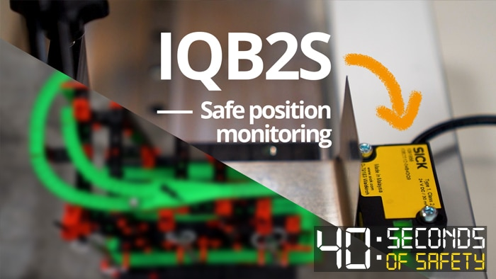 The IQB2S inductive safety switch allows safe position monitoring in confined spaces