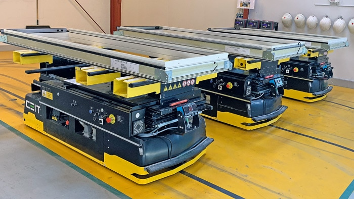 The AGVs from CEIT, now equipped with the Visionary-T DT, are impressing many new clients.