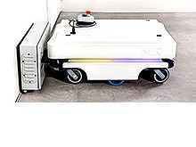 MiR100 mobile transport robot from Mobile Industrial Robots (MiR)