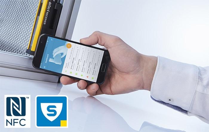 smartphone avec Sick safety App