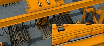 Application example for cranes