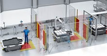 Flexible production without a conveyor belt