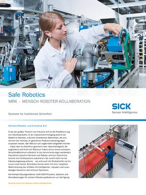 Safe Robotics MRK - Mensch-Roboter-Kollaboration