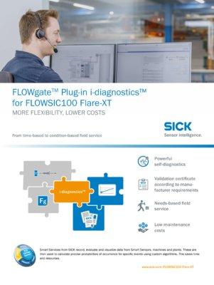 FLOWgateTM Plug-in i-diagnostics™ for FLOWSIC100 Flare-XT