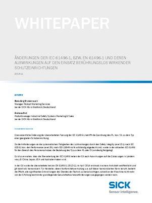 Änderungen IEC 61496
