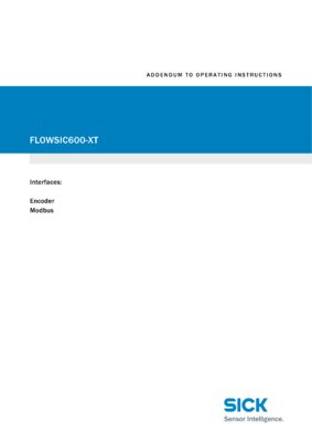 FLOWSIC600-XT Encoder Modbus