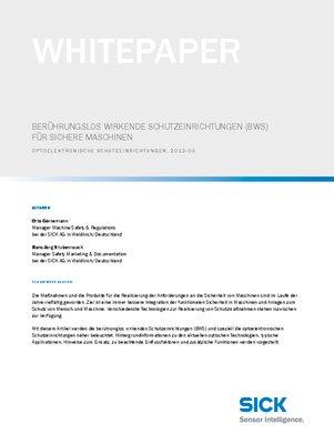 Berührungslos wirkende Schutzeinrichtungen (BWS) für sichere Maschinen