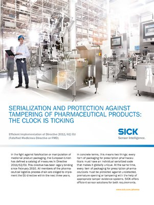 Serialization and protection against tampering of pharmaceutical products: The clock is ticking