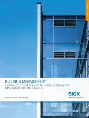 Building Management - sensor solution for doors, gates, access gates, windows, roofs and facades