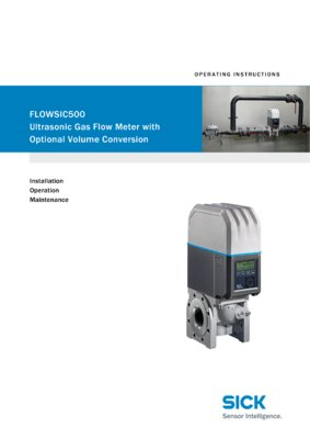 Gas flow meters | FLOWSIC500 | SICK